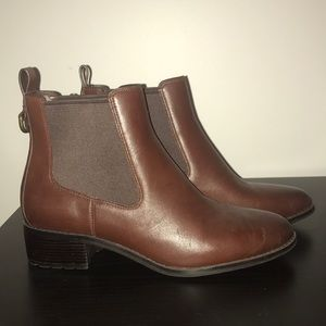 Cole Haan brown leather ankle boot
